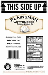 Plainsmen Cottonseed Cooking and Salad Oil